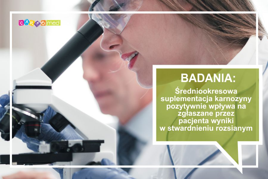 Średniookresowa suplementacja karnozyny pozytywnie wpływa na zgłaszane przez pacjenta wyniki w stwardnieniu rozsianym.