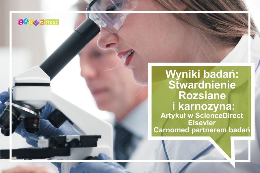 Wyniki badań – Stwardnienie rozsiane i karnozyna – artykuł Nutrition Research w Science Direct. Carnomed partnerem badań!